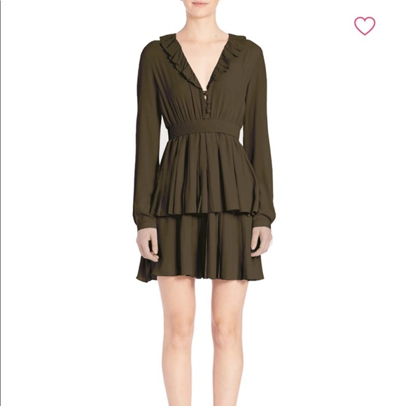 No. 21 Dresses & Skirts - FLASH SALE!! No. 21 Olive Green Tiered Dress
